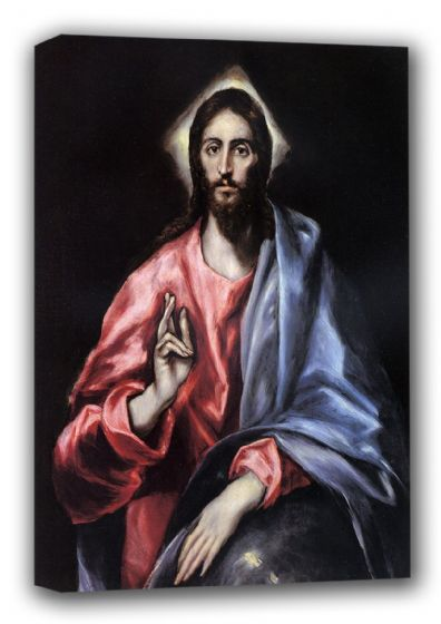 El Greco (Domenico Theotocopuli): Jesus. Religious Fine Art Canvas. Sizes: A3/A2/A1 (00667)